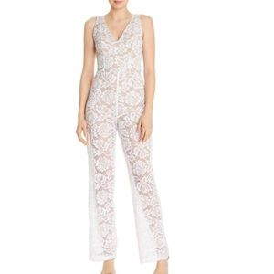GUESS White Lace Riona Jumpsuit